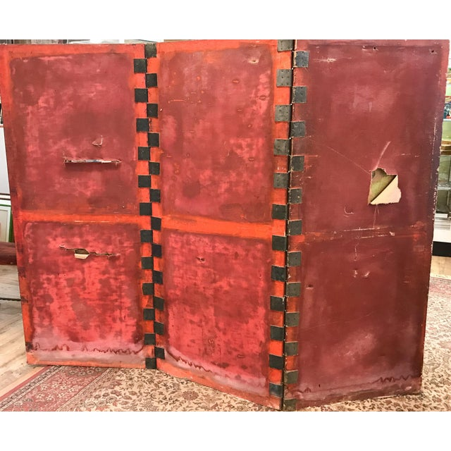 Antique Art Deco Asian Screen For Sale - Image 10 of 11