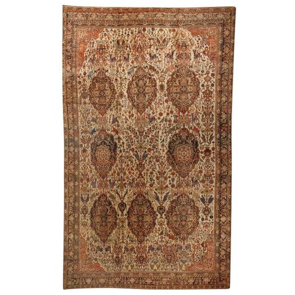 Antique Oversize 19th Century Persian Bakhtiari Carpet For Sale
