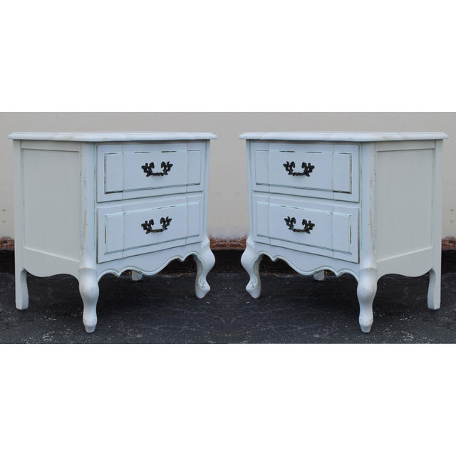 French Provincial Nightstands - A Pair - Image 3 of 7