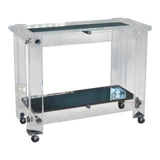 Modernist Lucite Mirrored Bar Cart