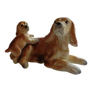 Mid-Century Modern Napco Cocker Spaniel Dog Mom and Pup Figurine