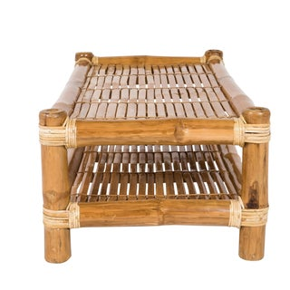 Boho Chic Bamboo Coffee Table With Natural Finish Preview