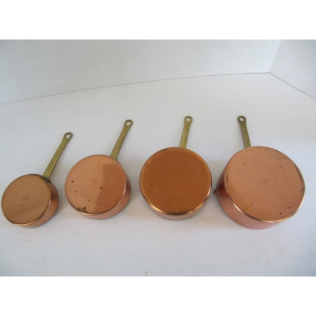 Copper & Brass Measuring Cups - Set of 4 For Sale - Image 5 of 8