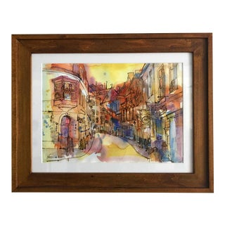 Tallinn Original Watercolor Painting For Sale