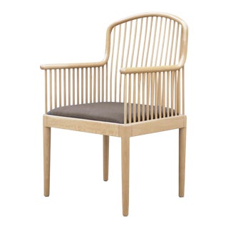 Last Call Knoll International Natural Finish Armchair