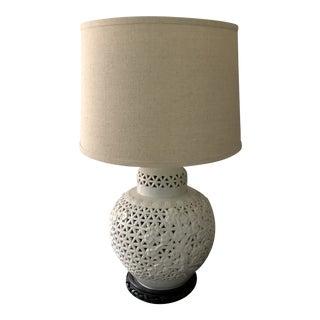 Vintage Chine De Blanc Ginger Jar Lamp For Sale