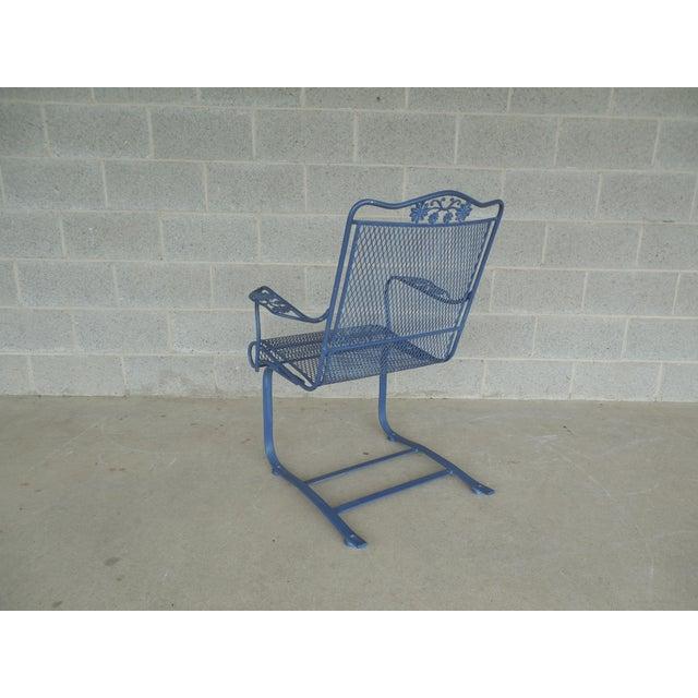 Vintage Woodard Briarwood High Back Spring Base Chair Model #1A052904 - Image 6 of 8