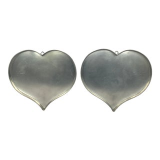 Bavarian Heart Heart Serving Trays or Wall Decor - 2 Pieces For Sale