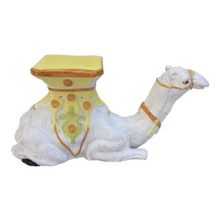 Italian Terra-Cotta Camel Garden Seat For Sale