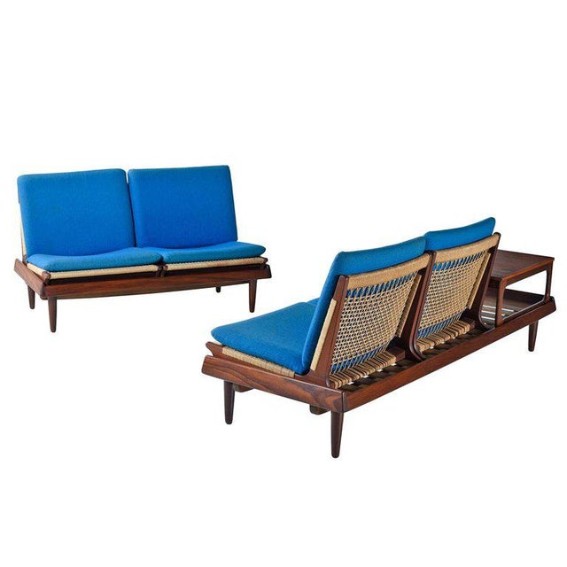 Industrial Hans Olsen Tv 161 for Bramin Mobler Modular Rope Seating & End Table Sofa Set For Sale - Image 3 of 12