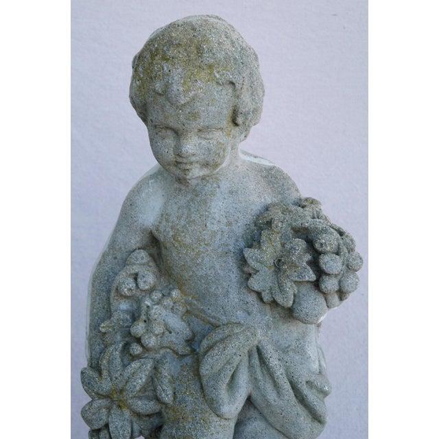 1950s Concrete Cherub Garden Statue - Image 4 of 11
