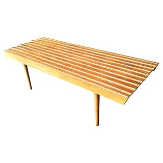 1960s Slat Bench