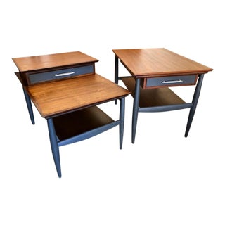 1960s Mid-Century Modern Hekman End Tables - Set of 2 For Sale