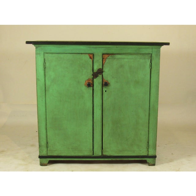 19th C. American Green Painted Cupboard For Sale - Image 12 of 12