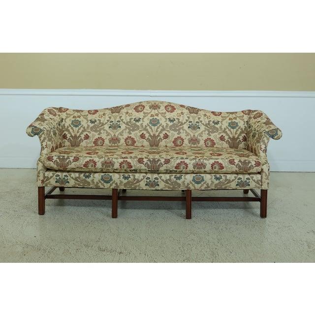 Chippendale Style Quality 8 Legged Mahogany Camelback Sofa For Sale - Image 10 of 10