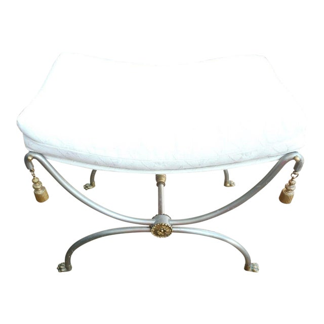 1970s Neoclassical Bench With Rope Tassels For Sale