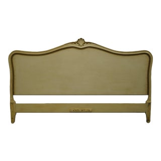 Drexel Furniture Touraine Collection French Provincial Painted Cream / Off White King Size Headboard 1178-1 For Sale