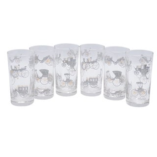 Mid Century Glass Tumblers - Set of 6 For Sale