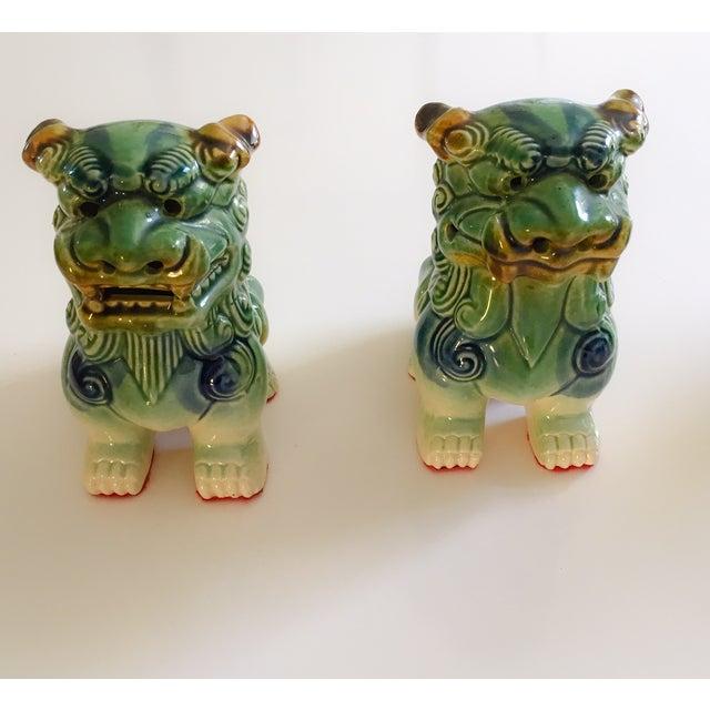 Ceramic Foo Dog Figurines - Pair - Image 3 of 10
