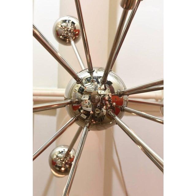 Nickel Silver 24 Bulb Sputnik Vintage Chandelier - Image 5 of 10