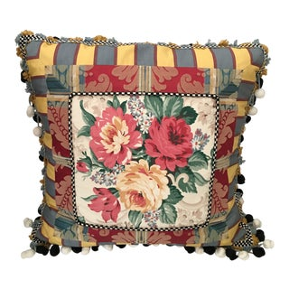 MacKenzie Childs Floral Down Pillow For Sale