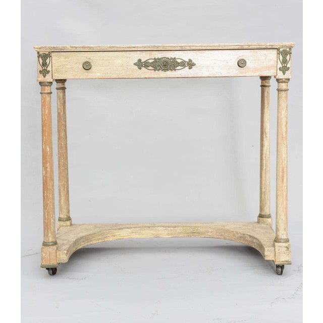 Empire Painted French Empire Console Table For Sale - Image 3 of 11