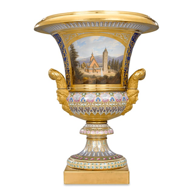 Ceramic Royal Kpm Porcelain Krater Vase For Sale - Image 7 of 7