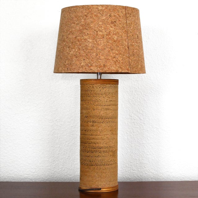 Gregory Van Pelt Cylindrical Cardboard Lamp With Cork Lamp