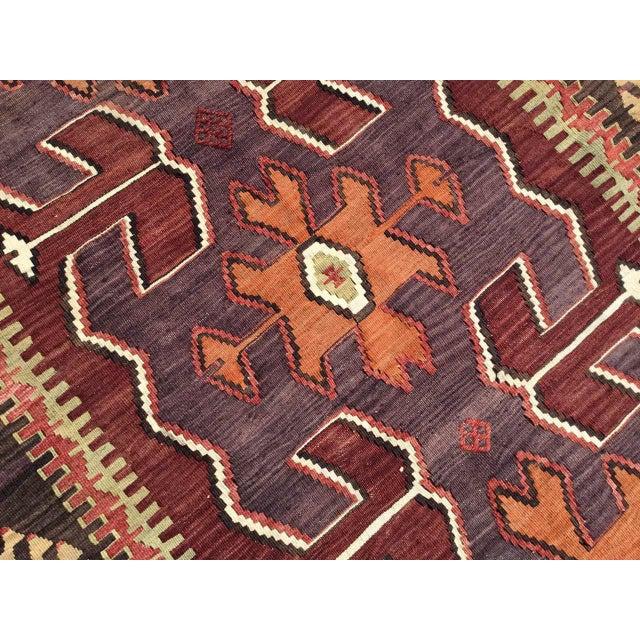Vintage Turkish Kilim Rug For Sale In Raleigh - Image 6 of 10