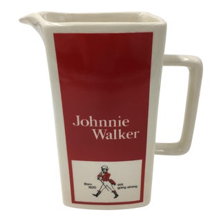 Collectible Vintage Johnnie Walker Ceramic Pitcher For Sale