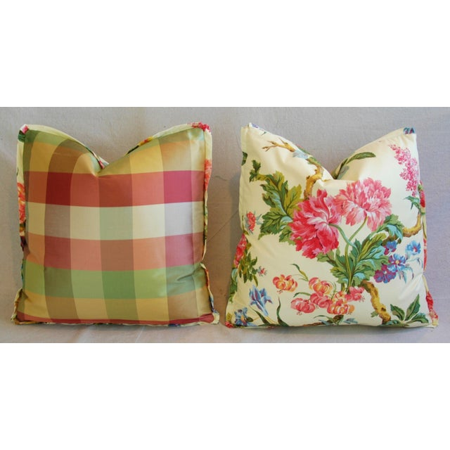 Brunschwig & Fils Coligny Spring Floral Pillows - a Pair - Image 5 of 10