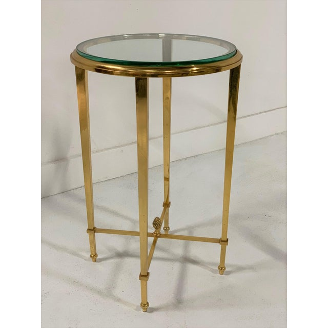 French French Gilt Bronze and Glass Gueridon Table For Sale - Image 3 of 8