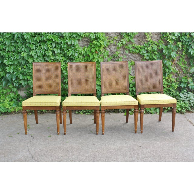 Hickory Directoire Style Dining Chairs - Set of 4 - Image 3 of 10