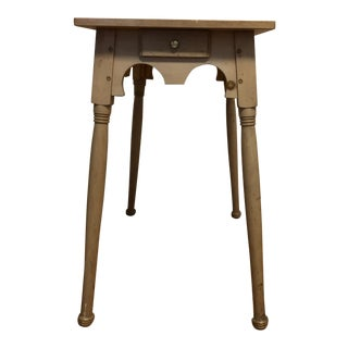 Rustic Lane White Wash Side Table With Drawer For Sale