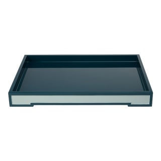 Steven Gambrel Collection Suffolk Tray Small in Teal For Sale