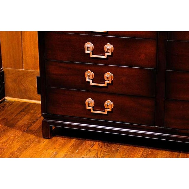 Landstrom Furniture Exquisite Restored Landstrom Eight Drawer Chest with Greek Key Handles For Sale - Image 4 of 9