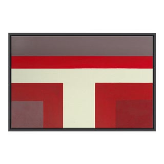 Abstract Ron Burgundy No. 1 - Framed Print 40x60 For Sale
