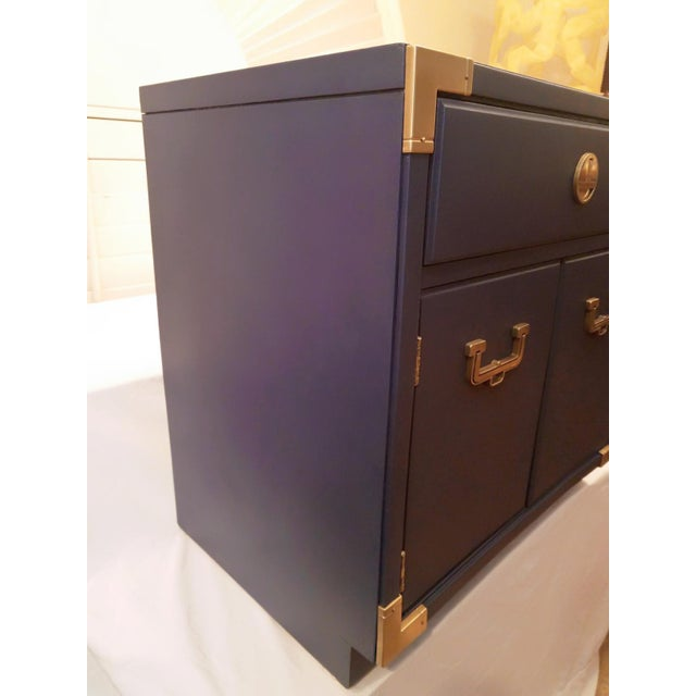 Campaign Thomasville Blue Campaign Nightstand For Sale - Image 3 of 9