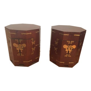Vintage Asian Style Side Tables - a Pair For Sale