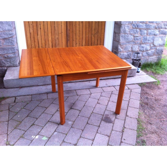 Danish Modern Drop-Leaf Dining Table - Image 7 of 7