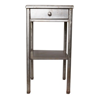 1930s Antique Simmons Manufacturing Co Industrial Nightstand For Sale