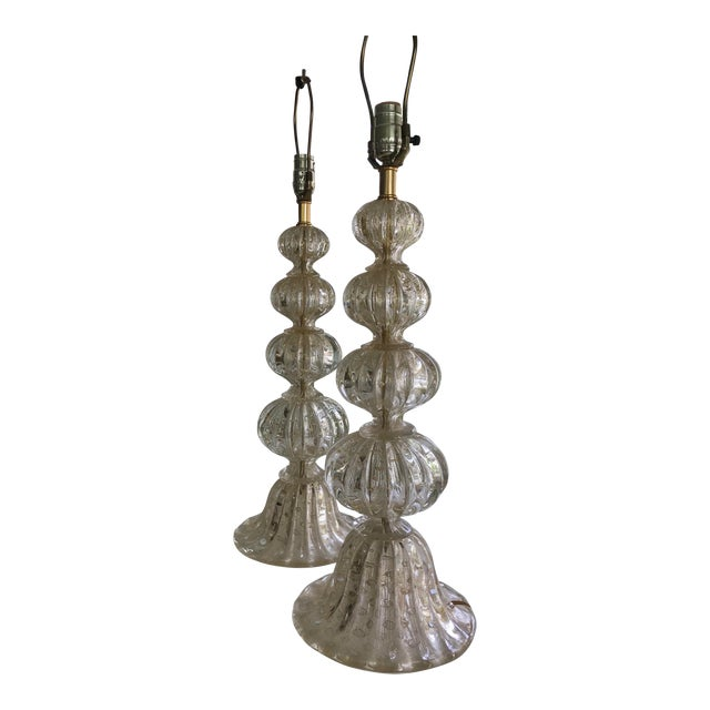 Barbara Barry for Baker Murano Table Lamps - A Pair For Sale