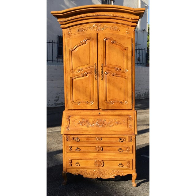 Huge Antique French Provincial Secretaire Slant Front Desk Bookcase. This wonderful secretary is of superb quality and...