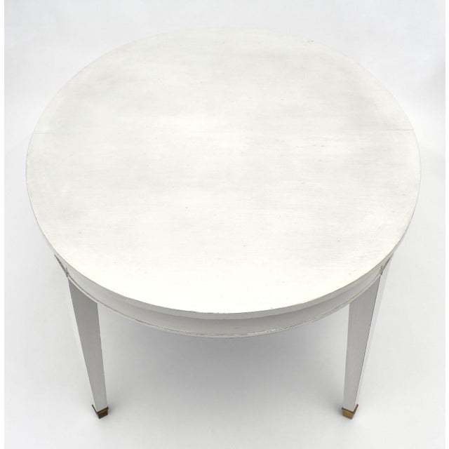 Directoire Style Painted Dining Table For Sale In Austin - Image 6 of 9