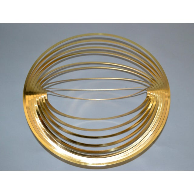 Modern Sculptural Golden Brass Rocking Bowl, Eight Mood, Sweden. This bowl is made out of one piece of brass, stunning...