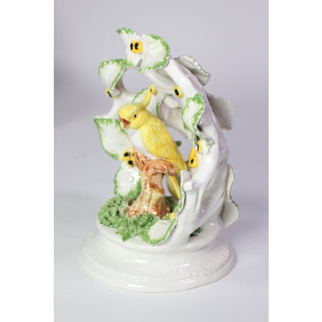 Early 20th Century Early 20th Century Italian Porcelain Parrot Encompassed in Leaves For Sale - Image 5 of 8