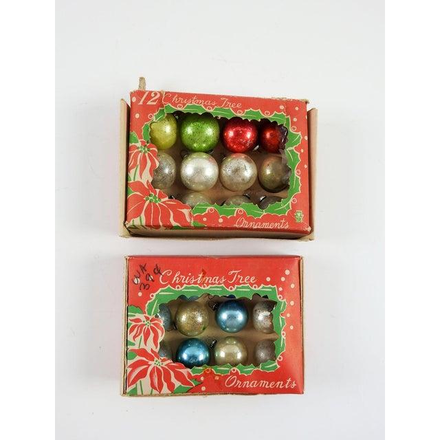 Vintage Mini Various Colors Christmas Ornaments Set Of 24