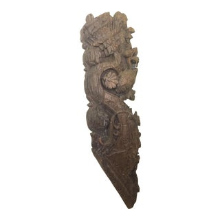 18th Century Antique Middle Eastern Architectural Wooden Bracket For Sale