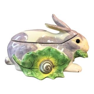 Petit Italian Majolica Rabbit Tureen, Mottahedeh