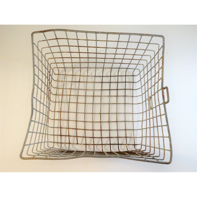 Brown Vintage Wire Locker Baskets - Set of 3 For Sale - Image 8 of 11